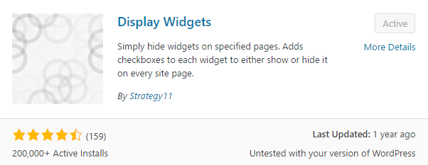 Display Widgets Plugin