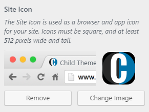 Site Icon uploaded