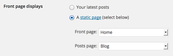 Front Page and Blog Setting
