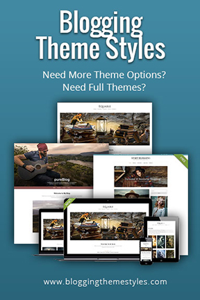 blogging theme styles banner